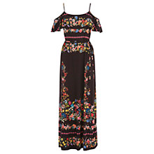 Buy Oasis Cuba Cold Shoulder Maxi Dress, Multi Online at johnlewis.com