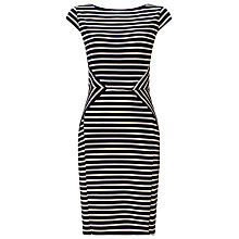 Buy Precis Petite Stripe Dress, Navy Online at johnlewis.com