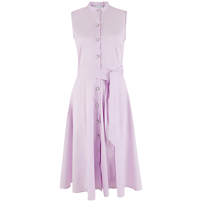Closet Button Front Skater Dress, Pink