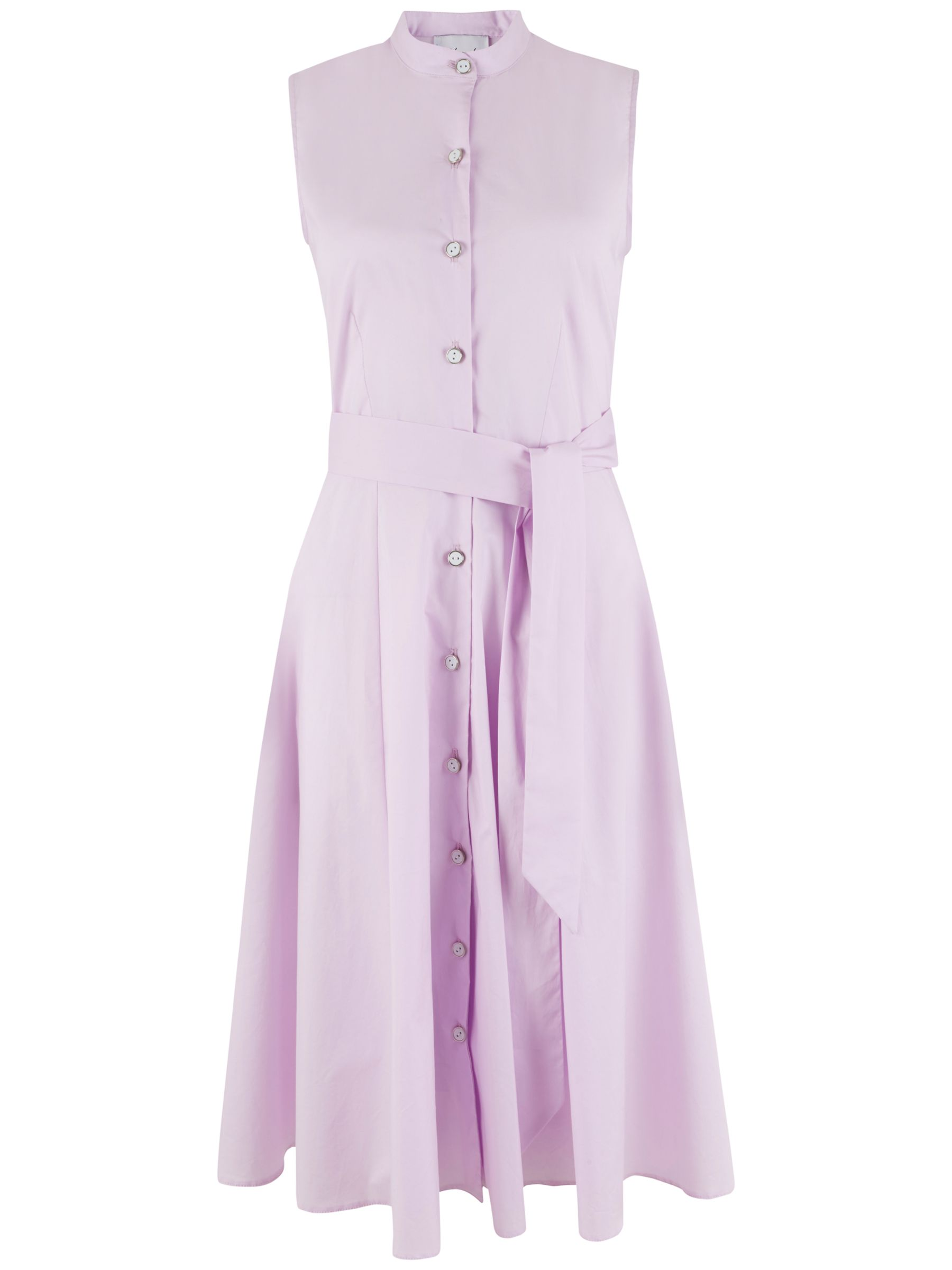 Closet Closet Button Front Skater Dress, Pink