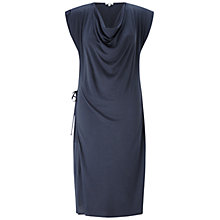 Buy Jigsaw Cowl Neck Dress, Grey Online at johnlewis.com