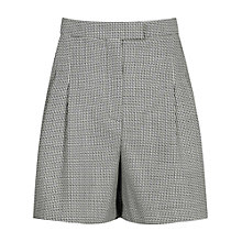 Buy Reiss Maxine Micro Pattern Tailored Shorts, Black/White Online at johnlewis.com