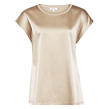 Buy Reiss Ki Silk Front T-shirt Online at johnlewis.com