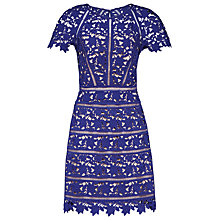 Buy Reiss Orchid Lace Dress, Sapphire Online at johnlewis.com
