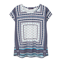 Buy Violeta by Mango Printed Cotton T-Shirt, Navy Online at johnlewis.com
