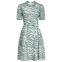 Buy Reiss Somerset Printed Dress, Soft Green Online at johnlewis.com
