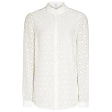 Buy Reiss Madison Textured Blouse, Off White Online at johnlewis.com