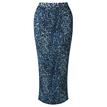 Buy Jigsaw Floral Pleat Midi Skirt, Petrol Online at johnlewis.com