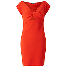 Buy Miss Selfridge Twist Front Bodycon Dress, Red Online at johnlewis.com