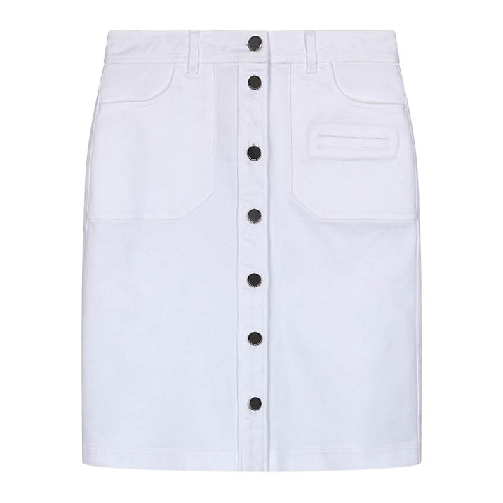 Buy Gerard Darel Cache Skirt , White, 14 Online at johnlewis.com