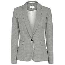 Buy Reiss Maxine Micro Pattern Tailored Jacket, Black/White Online at johnlewis.com