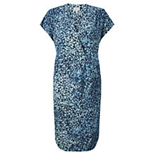 Buy Jigsaw Shadow Floral Dress, Petrol Online at johnlewis.com
