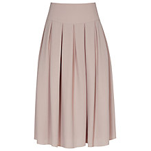 Buy Reiss Eli Pleated Midi Skirt, Ice Rose Online at johnlewis.com