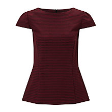 Buy John Lewis Textured Peplum Top Online at johnlewis.com