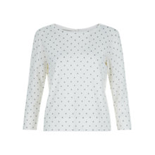 Buy Hobbs Daphne Cotton Jumper, Multi Online at johnlewis.com