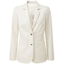 Buy Pure Collection Hailey Wool Blazer, Ivory Online at johnlewis.com