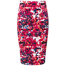 Buy Pure Collection Eastby Pencil Skirt, Pink Abstract Print Online at johnlewis.com