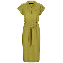 Buy Jaeger Linen Shirt Dress, Olive Online at johnlewis.com