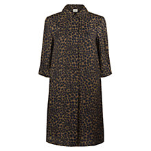 Buy Hobbs Cheetah Tunic Dress, Khaki Online at johnlewis.com