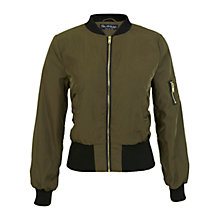 Buy Miss Selfridge Bomber Jacket, Khaki Online at johnlewis.com