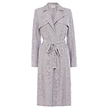 Buy Coast Tortie Lace Coat, Silver Online at johnlewis.com