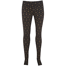 Buy Manuka Star Stirrup Yoga Leggings, Black/Gold Online at johnlewis.com