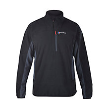 Buy Berghaus Prism Micro Half Zip Men's Fleece, Black Online at johnlewis.com