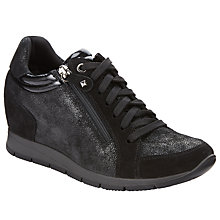 Buy John Lewis Designed for Comfort Ernest High Top Trainers, Black Online at johnlewis.com