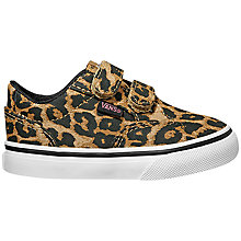 Buy Vans Children's Riptape Winston Cheeta Casual Shoes, Cheetah Online at johnlewis.com