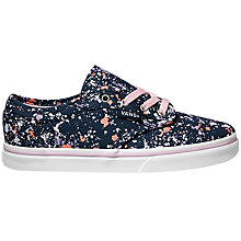 Buy Vans Children's Atwood Lace Shoes, Navy/Lilac Online at johnlewis.com