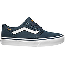 Buy Vans Children's Chapman Varsity Casual Shoes, Navy/White Online at johnlewis.com