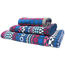 Buy Margo Selby for John Lewis Moro Towels, Purple Online at johnlewis.com
