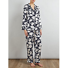 Buy Somerset by Alice Temperley Rose Silk Pyjama Set, Black/Grey Online at johnlewis.com