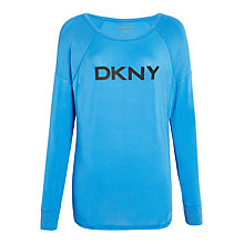 Buy DKNY Plaid Town Long Sleeve Pyjama Top, Blue Online at johnlewis.com