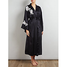 Buy Somerset by Alice Temperley Rose Silk Kimono Robe, Black Online at johnlewis.com