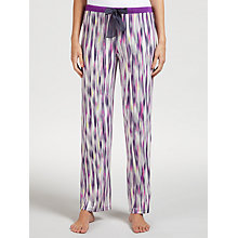 Buy DKNY Bleeker Street Stripe Pyjama Bottoms, Purple/Multi Online at johnlewis.com