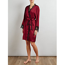 Buy Somerset by Alice Temperley Silk Robe, Rust Red Online at johnlewis.com