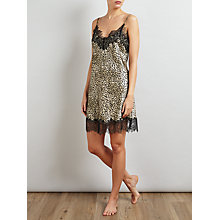 Buy Somerset by Alice Temperley Leopard Print Chemise, Gold/Black Online at johnlewis.com