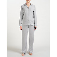 Buy John Lewis Chambray Pyjama Set, Grey Online at johnlewis.com
