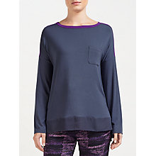 Buy DKNY Bleeker Street Long Sleeve Pyjama Top, Grey Online at johnlewis.com
