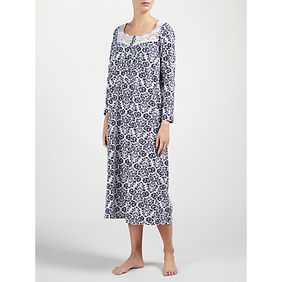 John Lewis Damask Long Sleeved Nightdress