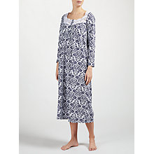 Buy John Lewis Damask Long Sleeved Nightdress Online at johnlewis.com