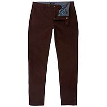 Buy Ted Baker Slim Fit Rustler Trousers, Dark Red Online at johnlewis.com