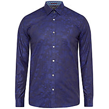 Buy Ted Baker Themack Jacquard Design Cotton Shirt Online at johnlewis.com