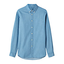 Buy Jigsaw Bleached Denim Shirt, Chambray Online at johnlewis.com