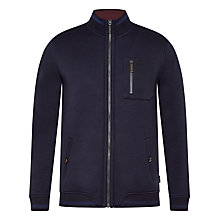 Buy Ted Baker Stephan Funnel Neck Jacket, Navy Online at johnlewis.com