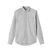 Buy Jigsaw Round Collar Shirt, Grey Melange Online at johnlewis.com