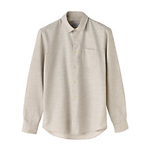 Buy Jigsaw Cotton Horizontal Stripe Slim Fit Shirt, Grey Online at johnlewis.com