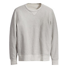 Buy Levi's Made & Crafted Crew Neck Jumper, Grey Heather Online at johnlewis.com