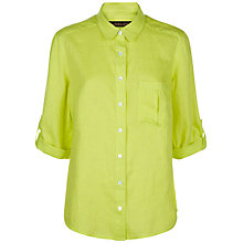 Buy Jaeger Linen Classic Blouse, Lime Online at johnlewis.com